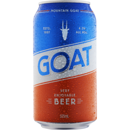 Photo of Mountain Goat Goat Lager Beer 4.2% Can 375ml