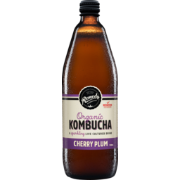 Photo of Remedy Kombucha Cherry Plum Organic Kombucha Sparkling Live Cultured Drink 750ml