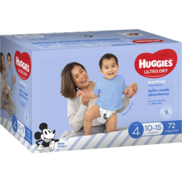 Photo of Huggies Ultra Dry Nappies Boys Size 4 (10-15kg) 72 Pack (Jumbo)