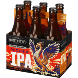 Photo of Monteith's Phoenix IPA 330ml Bottles 6 Pack