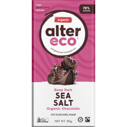 Photo of Sea Salt 70% Chocolate 80g