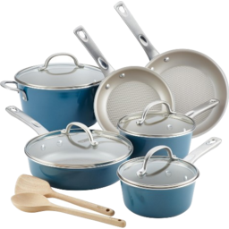 Photo of Simple Cooking 11pc Porcelain Aluminum Cookware