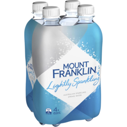 Photo of Mount Franklin Lightly Sparkling Water Multipack Bottles 4x450ml