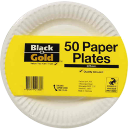Photo of Black And Gold Plate U/Ctd 225mm 50s