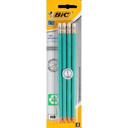 Photo of Bic Evolution Ecolution Graphite Pencil Plus Eraser X4