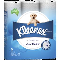 Photo of Kleenex Complete Clean Toilet Tissue 9 Pack