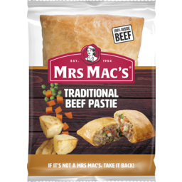 Photo of Mrs Mac's Traditional Beef Pastie 165g