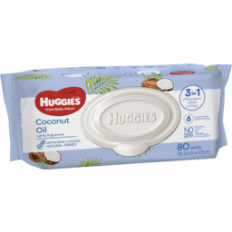 Photo of Huggies Baby Wipes Coconut Oil 80pk