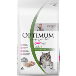 Photo of Optimum Nutrition For Life Grain Free Adult 1+ Years With Chicken Dry Cat Food 1.8kg