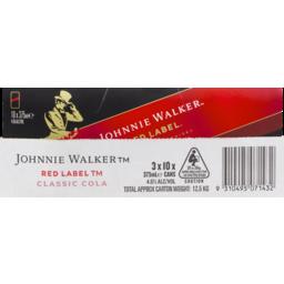 Photo of J/Walker Red & Cola 10 Pack
