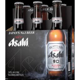 Photo of Asahi Super Dry Bottle 330ml 6 Pack