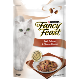 Photo of Fancy Feast Adult Beef, Salmon & Cheese Flavour Dry Cat Food 450g