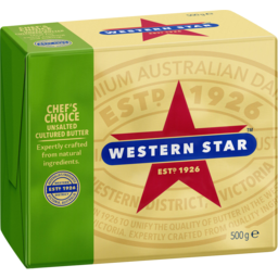 Photo of Western Star Unsalted Butter Chefs Choice 500gm