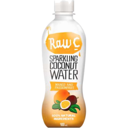 Photo of Raw C Sparkling Coconut Water Mango And Passionfruit 400ml