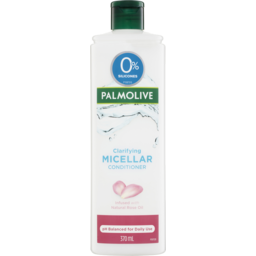 Photo of Palmolive Micellar Hair Conditioner Clarifying Natural Rose Oil 0% Silicones 370ml