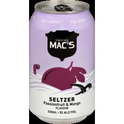 Photo of Mac's Seltzer Passionfruit Mango 1 X 330ml (Single Can)