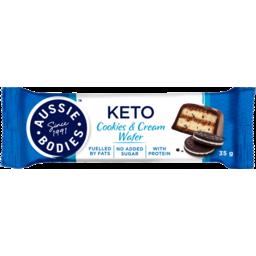 Photo of Aussie Bodies Cookies & Cream Wafer Keto Bar 35g