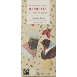 Photo of Bennetto Organic Intense Dark Chocolate 100gm