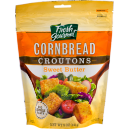 Photo of Fresh Gourmet Cornbread Croutons Sweet Butter