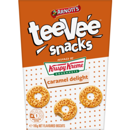Photo of Arnotts Tee Vee Snacks Krispy Kreme Caramel Delight Flavoured Biscuits 165g