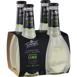 Photo of Schweppes Signature Soft Drinks Mexican Lime 4x300ml
