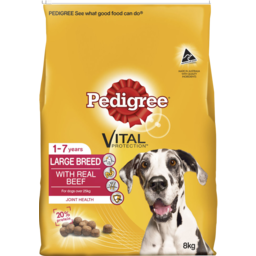 Photo of Pedigree Adult Large Breed With Real Beef Dry Dog Food 8kg