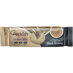 Photo of Peckish Black Sesame Brown Rice Crackers 90g