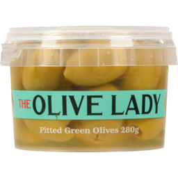 Photo of The Olive Lady Pitted Green Olives 280g