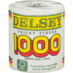 Photo of Delsey 1000 Toilet Tissue, 1 Roll