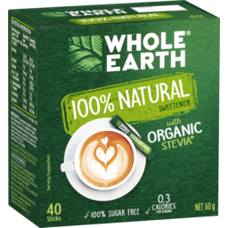 Photo of Whole Earth 100% Natural Stevia Sweetener Sticks 40