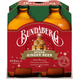 Photo of Bundaberg Spiced Ginger Beer Bottles 4x375ml