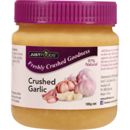 Photo of Just Foods Crushed Garlic 185g
