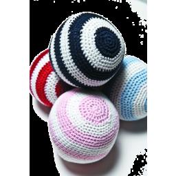 Photo of  Crochet Ball Navy/White Stripe