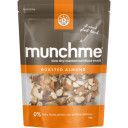 Photo of Munchme Roasted Almond Plant Based Snack 120g