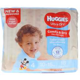 Photo of Huggies Ultra Dry Nappies Toddler Boy 18pk