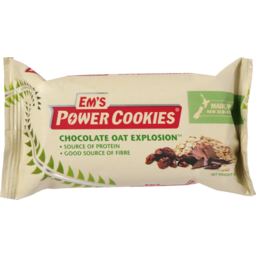 Photo of Em's Power Cookies Energy Bar Chocolate Oat Explosion 80g
