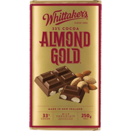 Photo of Whittakers Chocolate Block Almond Gold Block 250g
