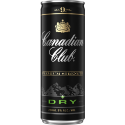 Photo of Canadian Club & Dry Premium Strength 9% 250ml Can