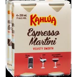 Photo of Kahlua Espresso Martini 7% 4x200ml