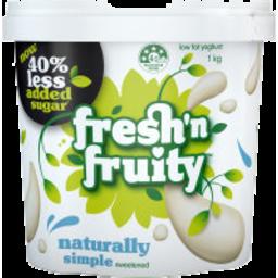 Photo of Fresh n Fruity 40% Less Sugar Yoghurt Natural 1kg
