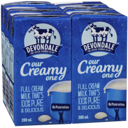 Photo of Devondale Milk Full Cream Uht 6x200ml