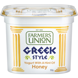 Photo of Farmers Union Greek Style Yogurt With A Hint Of Honey 950g