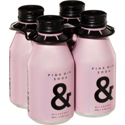Photo of Pink Gin Soda & 4.2% Aluminium Btl 4pk