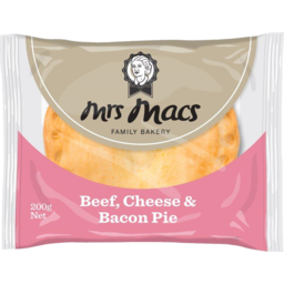 Photo of Mrs Macs Microwave Beef & Cheese Pie 200g
