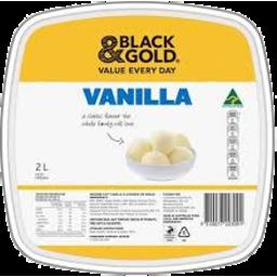 Photo of Black & Gold Vanilla Flavoured Ice Cream 2l