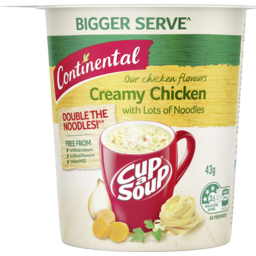 Photo of Continental Soup Cup Cup-A-Soup  Creamy Chicken  with Lots of Noodles 43g