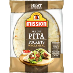 Photo of Mission Pita Pockets Wholemeal 420gm