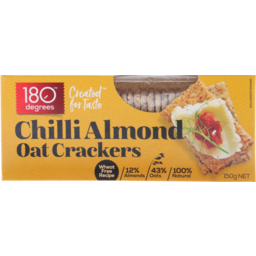 Photo of 180 Degrees Chilli Almond Oat Crackers 150 Grams