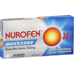 Photo of Nurofen Quickzorb Ibuprofen Lysine 342mg 24 Caplets