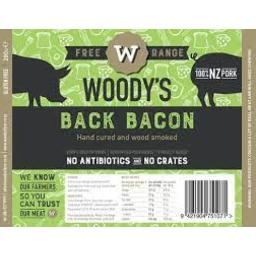 Photo of Woodys Free Range Back Bacon